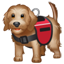Assistance dog emoji U+1F415